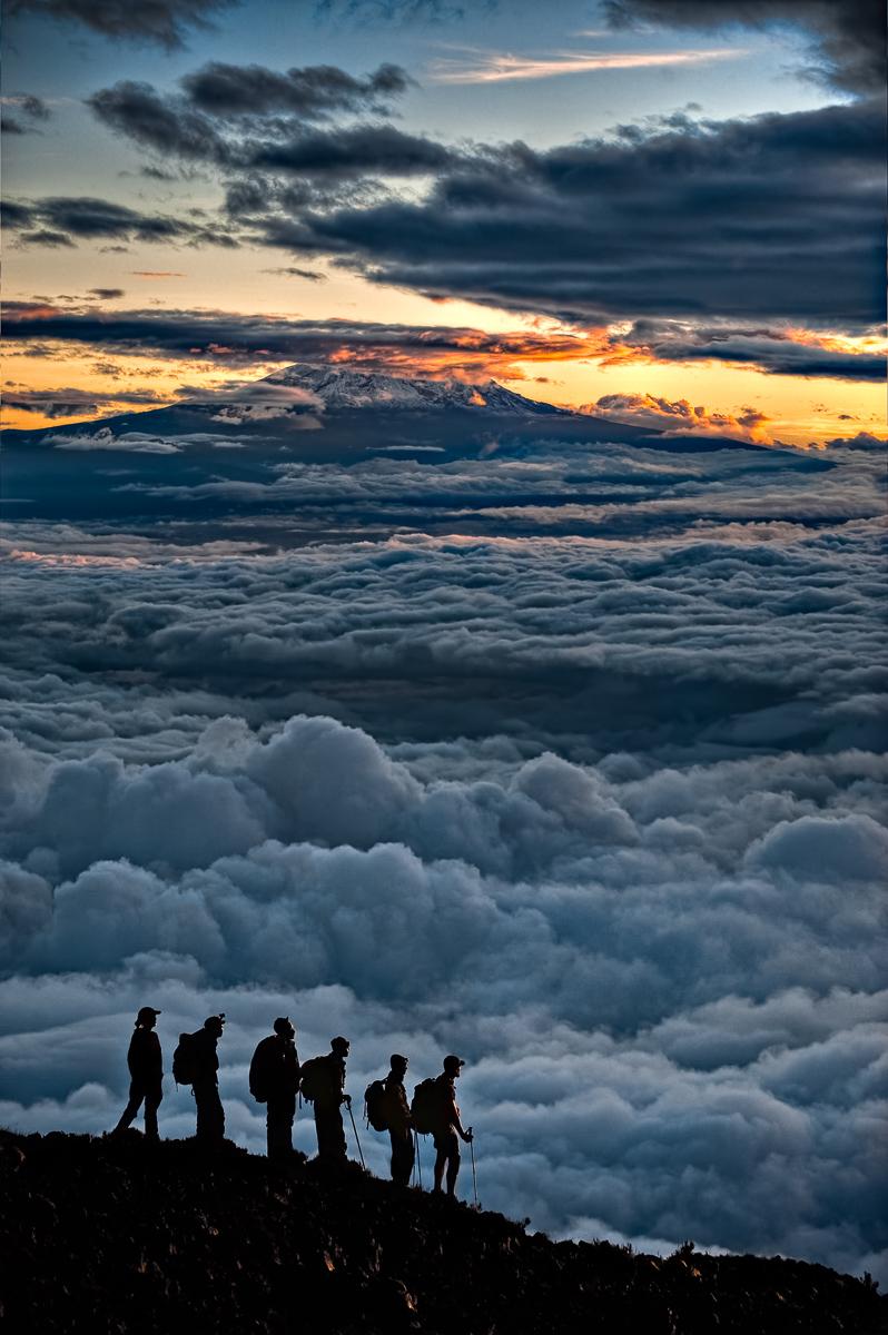 Sunrise Over Kilimanjaro:  Technical Details: Nikon D700 Nikkor 70-200VR at F4 for 1/800sec at ISO200