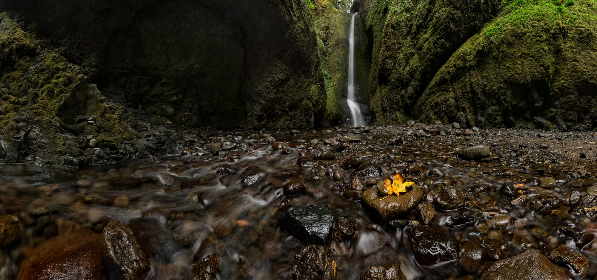Fall Kisses Oneonta:  Technical Details: Ultra High Res Pano-Merger Nikon D810, Nikkor 14-24 at F16 for 1sec at ISO64 (click image to enlarge)