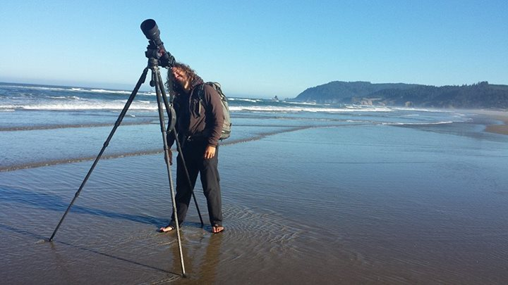 Photographing Puffins with the Nikon 400mm F3.5 using the Big Gitzo GT3542XLS and Sachtler FSB-6.