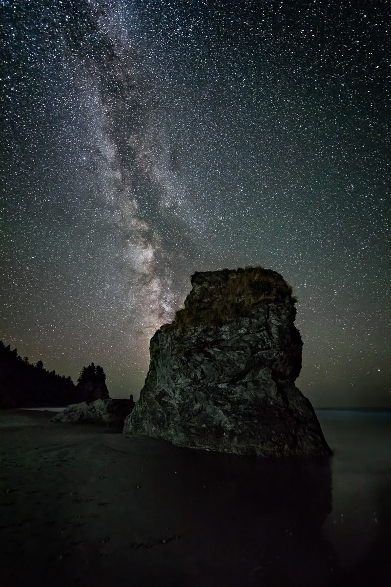 Olympic National Park:  Nikon D810, Nikon 14-24, F2.8 for 30 seconds at 2500 ISO