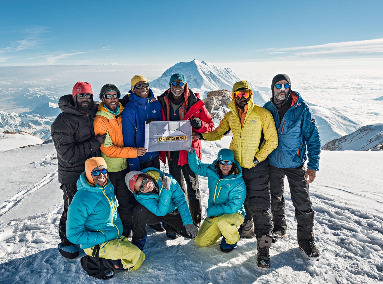 (CLICK TO VIEW THE FILM TRAILER!) The Team at 17,000 feet. (Back) Billy, Scott Tyrhee, Shobe, DeBerry, Ryan, (Front) Erica, Rosemary, and Adina