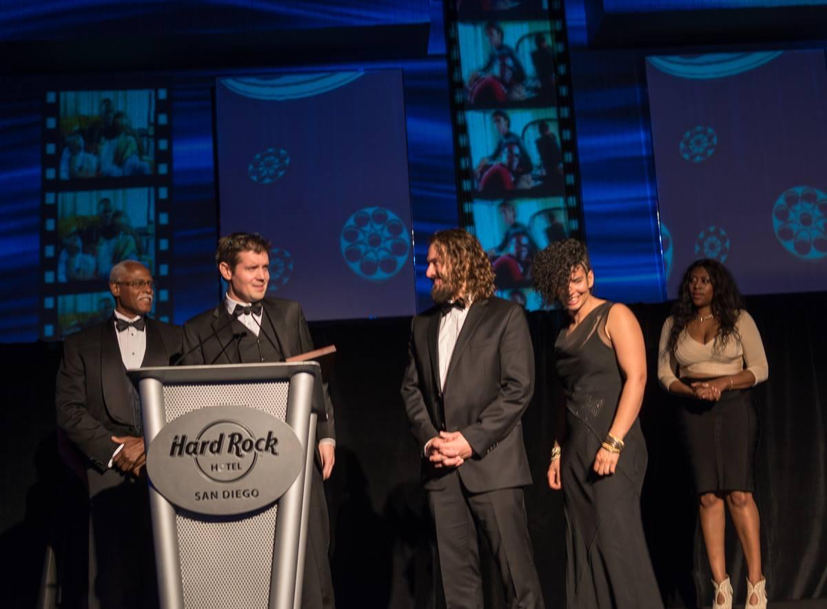 Steven Shobe, Andy Adkins, Myself and Adina Scott accept the award for Best Documentary Film at the San Diego Black Film Festival.