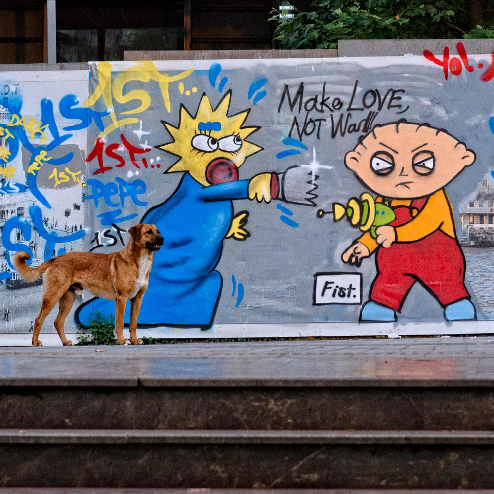 Maggie, Stewie & a Dog