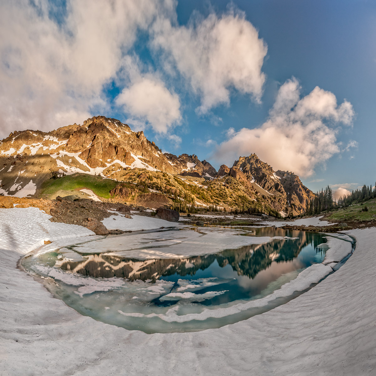 "Upper Royal Basin in Olympic National Park. (10 Frame ""Panoramic"")   click to view fullscreen"