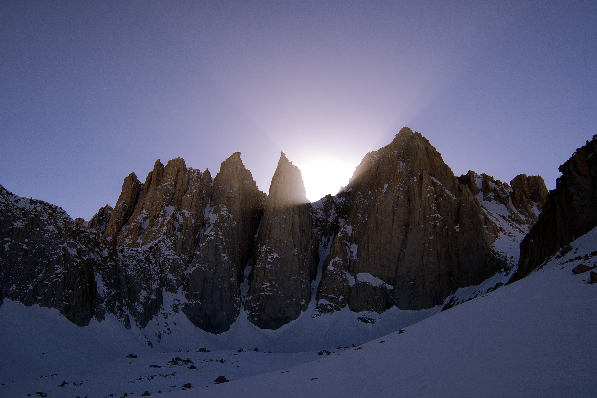 Sunset from our base-camp