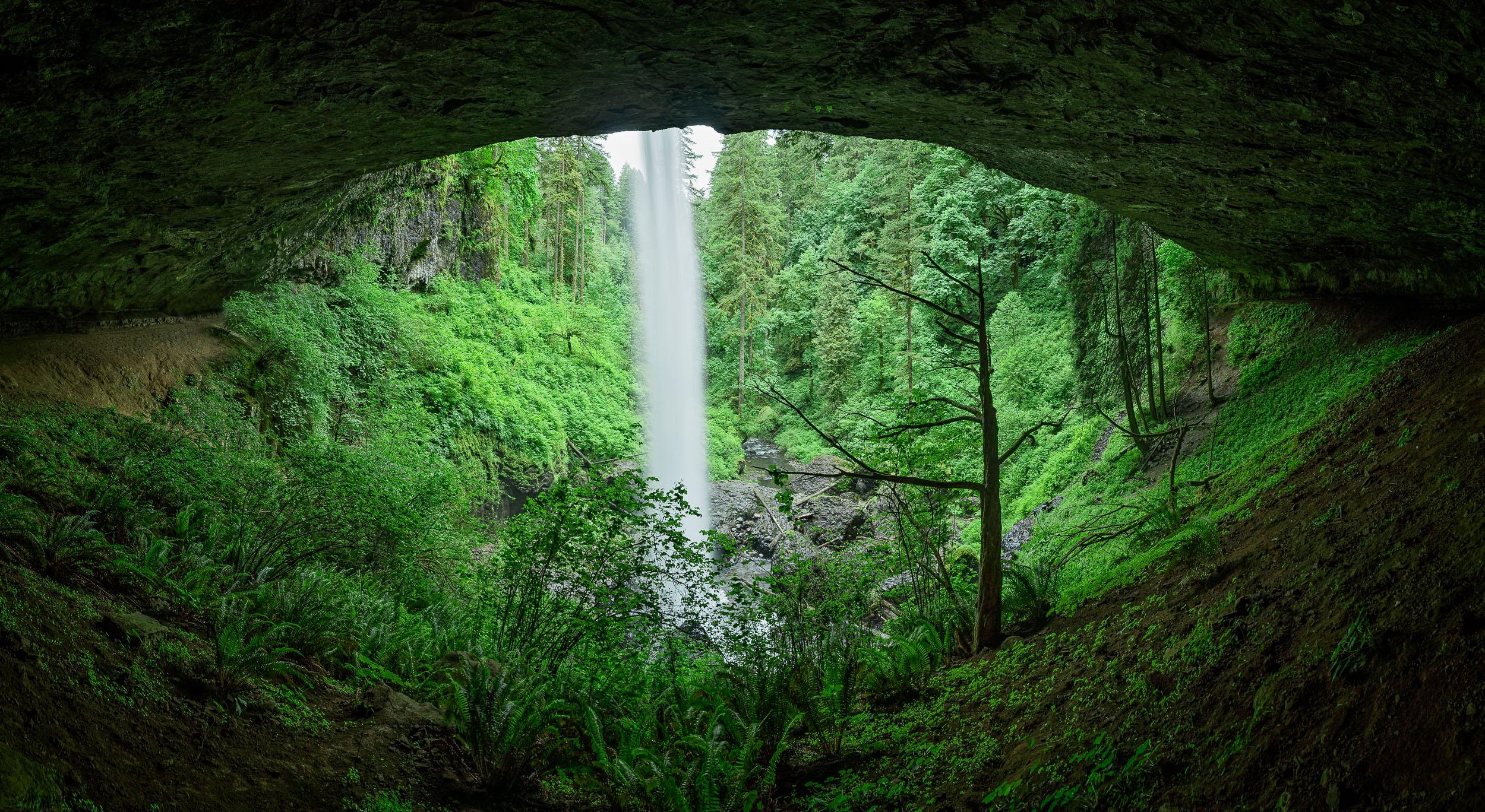 Pano Behind North Falls
