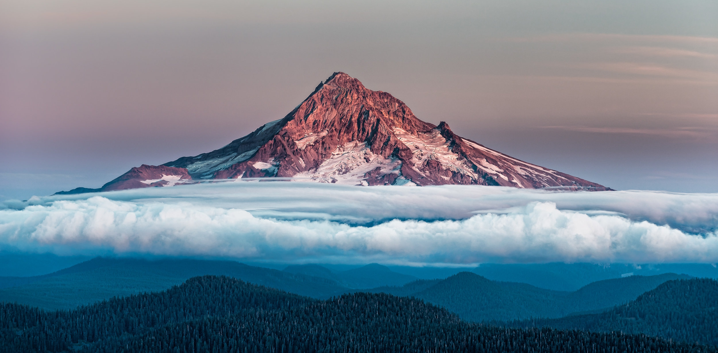 Mt. Hood with Cloud Carpet