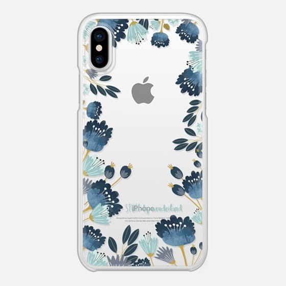blue flowers iphone case by stuffxwonderland on casetify