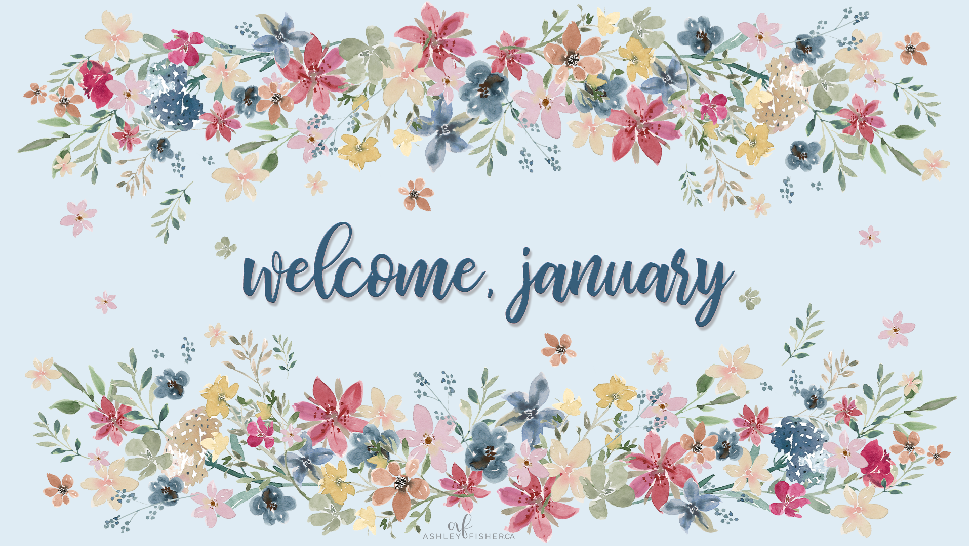 Welcome To January Wallpaper Freebie Ashley Fisher