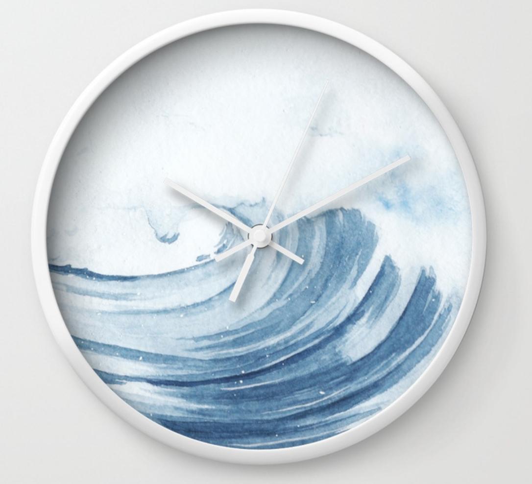 ocean wave wall clock by stuffxwonderland for society6 on ashleyfisher.ca