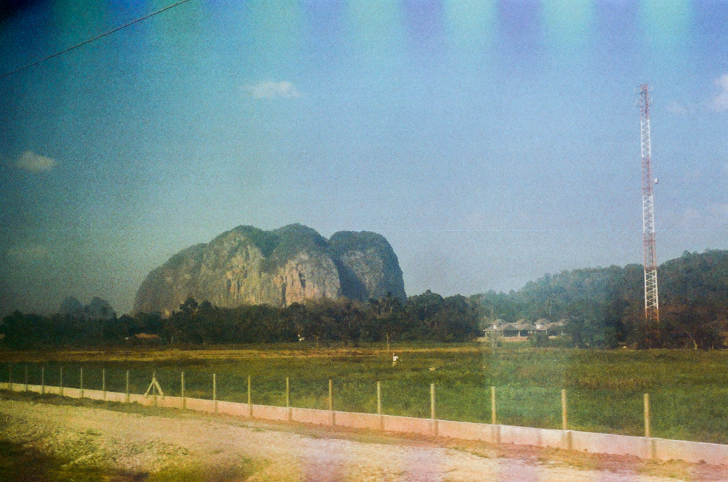 Thai countryside, on a train from Georgetown to Chumphon.