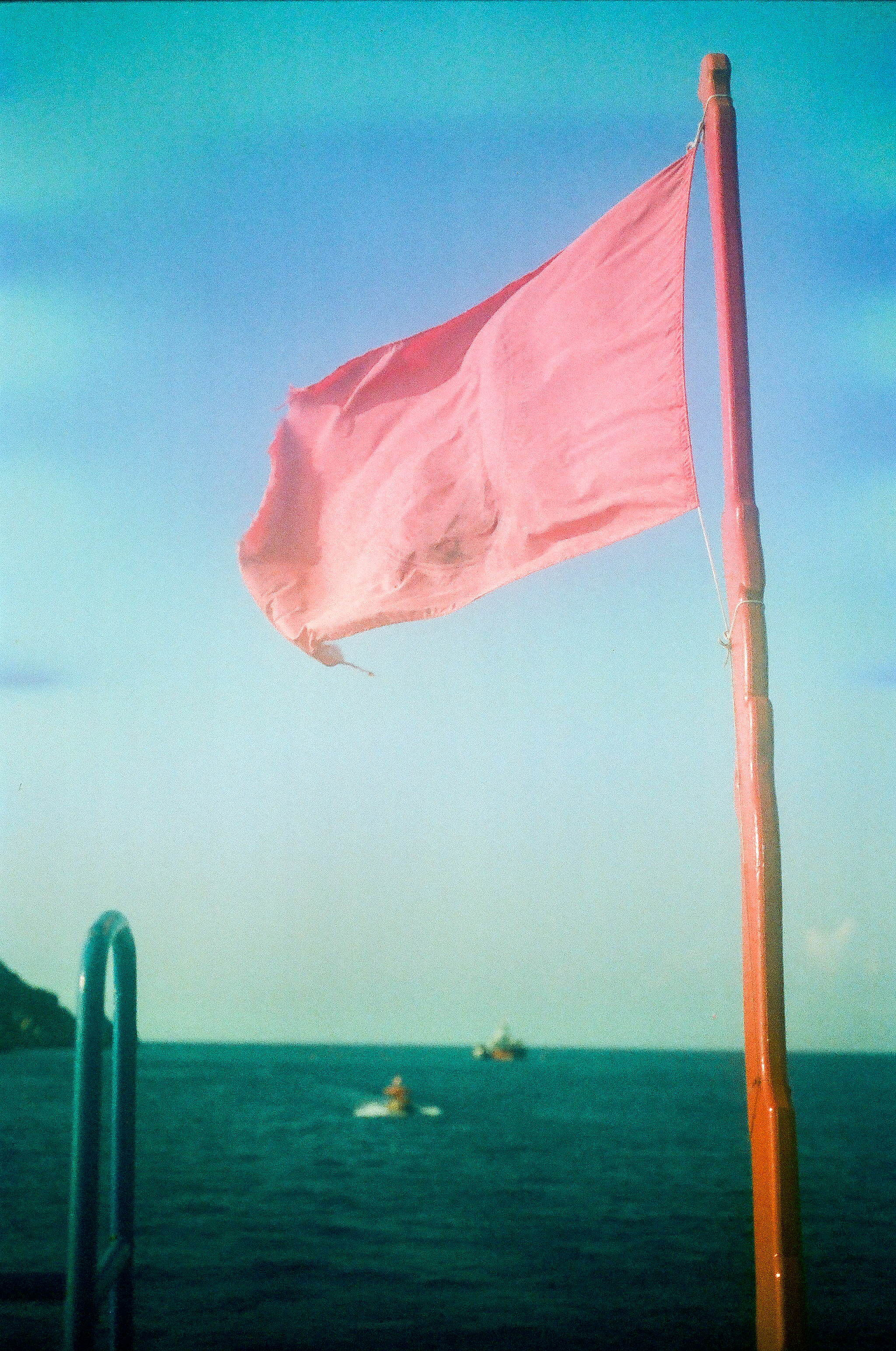 Flag on the dive boat stern.