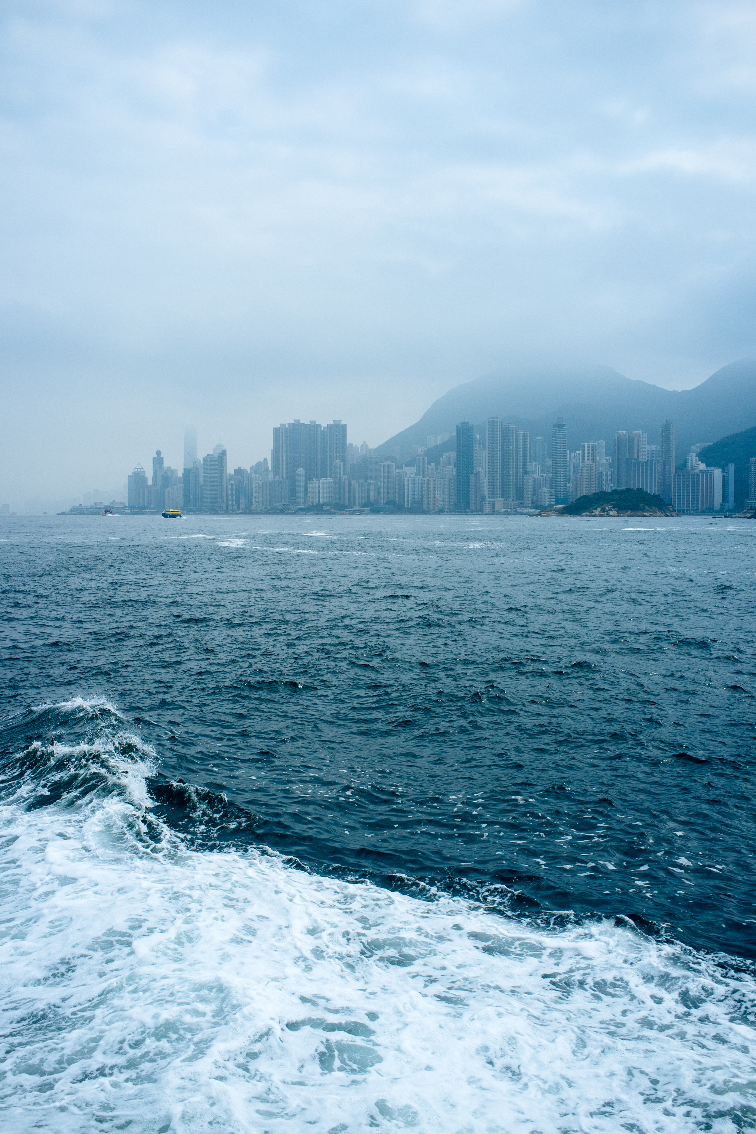 Central HK, seen from the Peng Chau ferry.