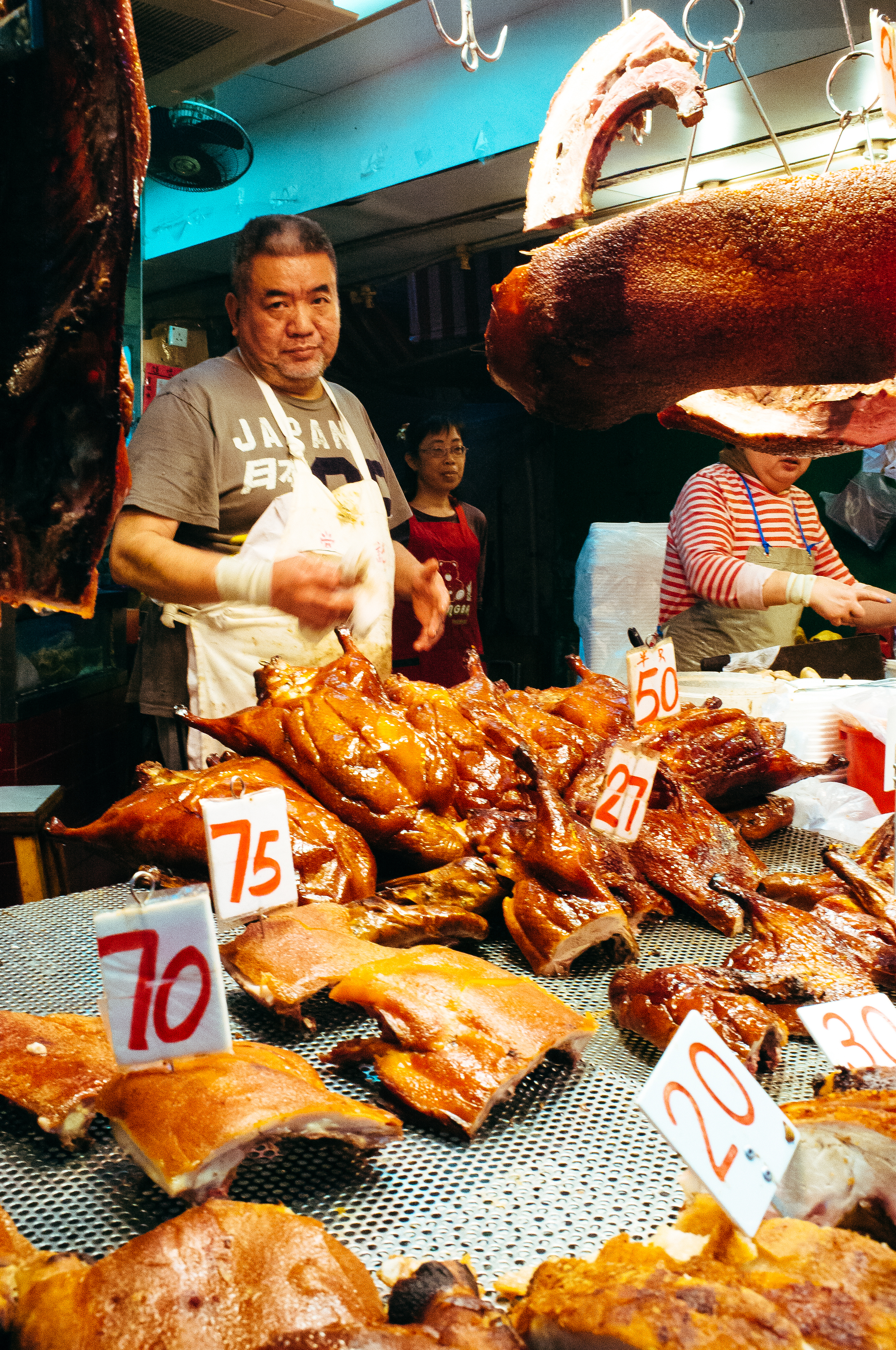 Just as many street butchers cook their meat as don't in HK.