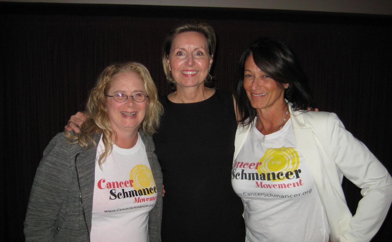 2013-09 Beverly Hills Cancer Schmancer_Meloney with Cancer Schmancer reps.JPG
