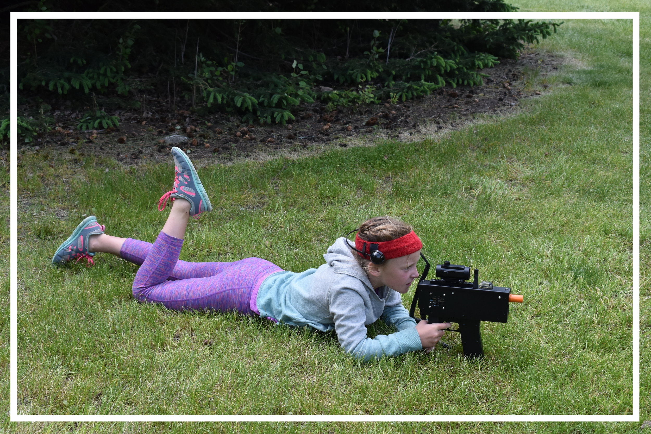 Laser tag was a popular addition to our program in 2018. -