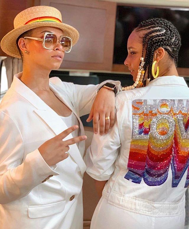@blairimani  and @aliciakeys  making pride epic #live #love #life #aileyan #bushwick #nyc #pride #handmade #lovewhoyouwant