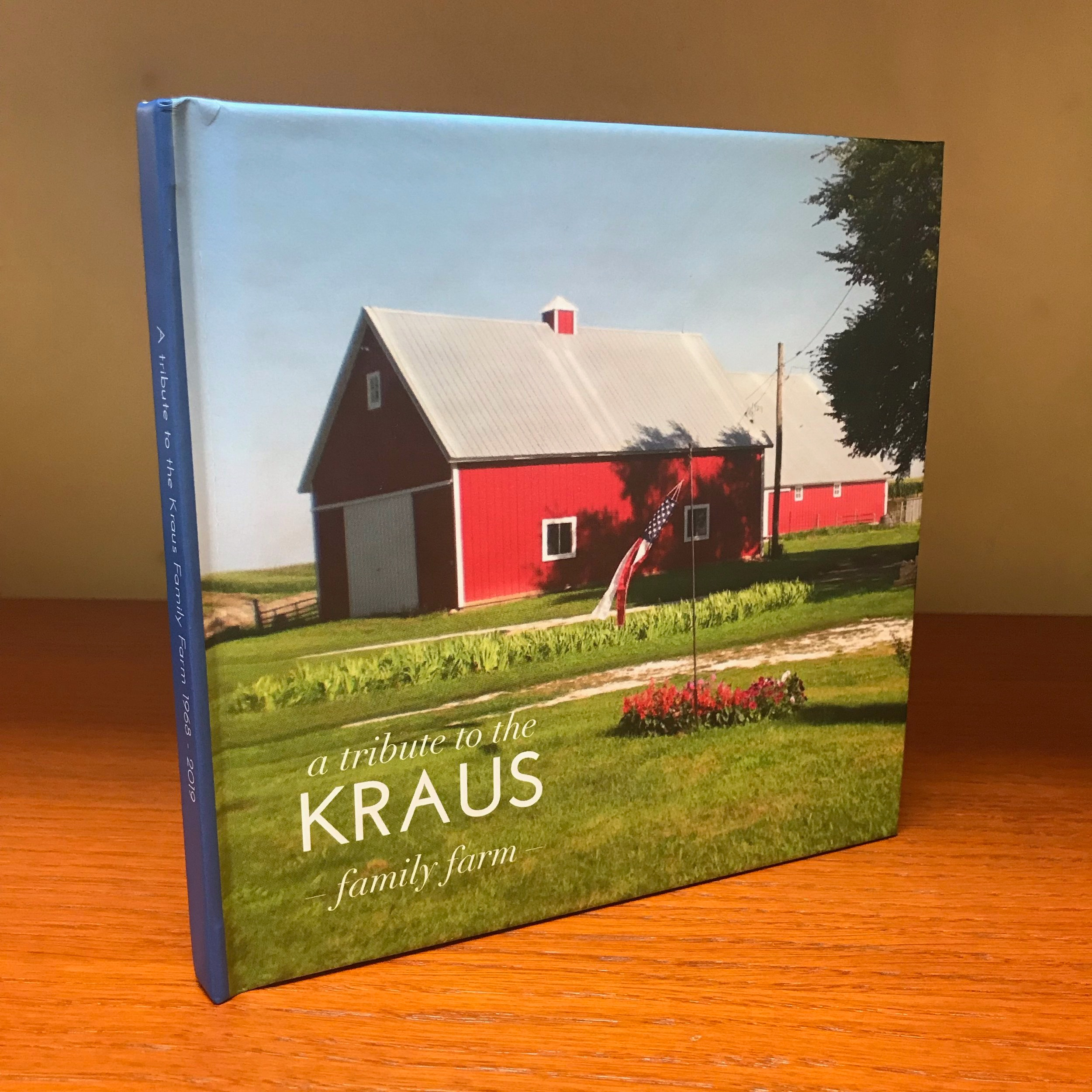 Cover design and type treatment for my parents farm keepsake book. Small Square 7x7 inches (18x18 cm) , 42 pages Standard Mid-Grey End Sheet ProLine Pearl Photo Paper. Hardcover, ImageWrap