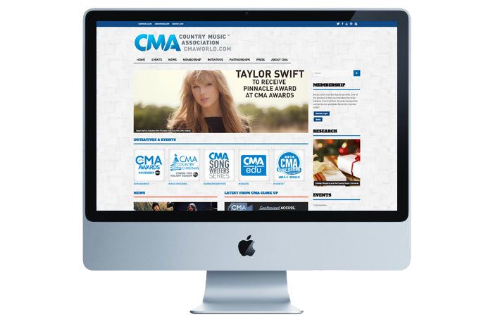 We did not design the new CMA website, but it is displayed here for reference to show how the branding Familytree created was implemented