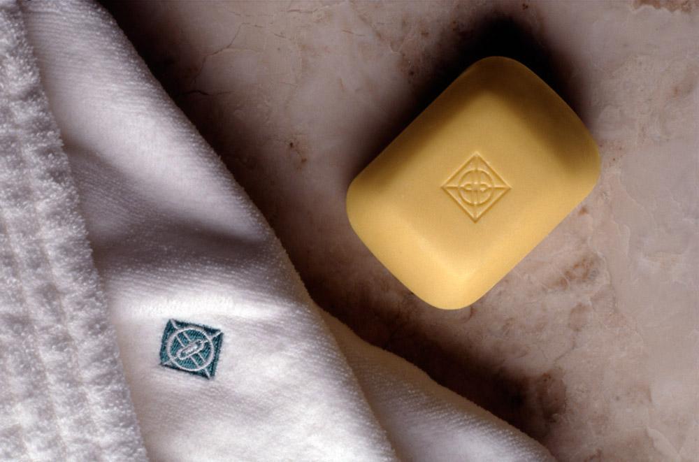 Bathrobe and soap