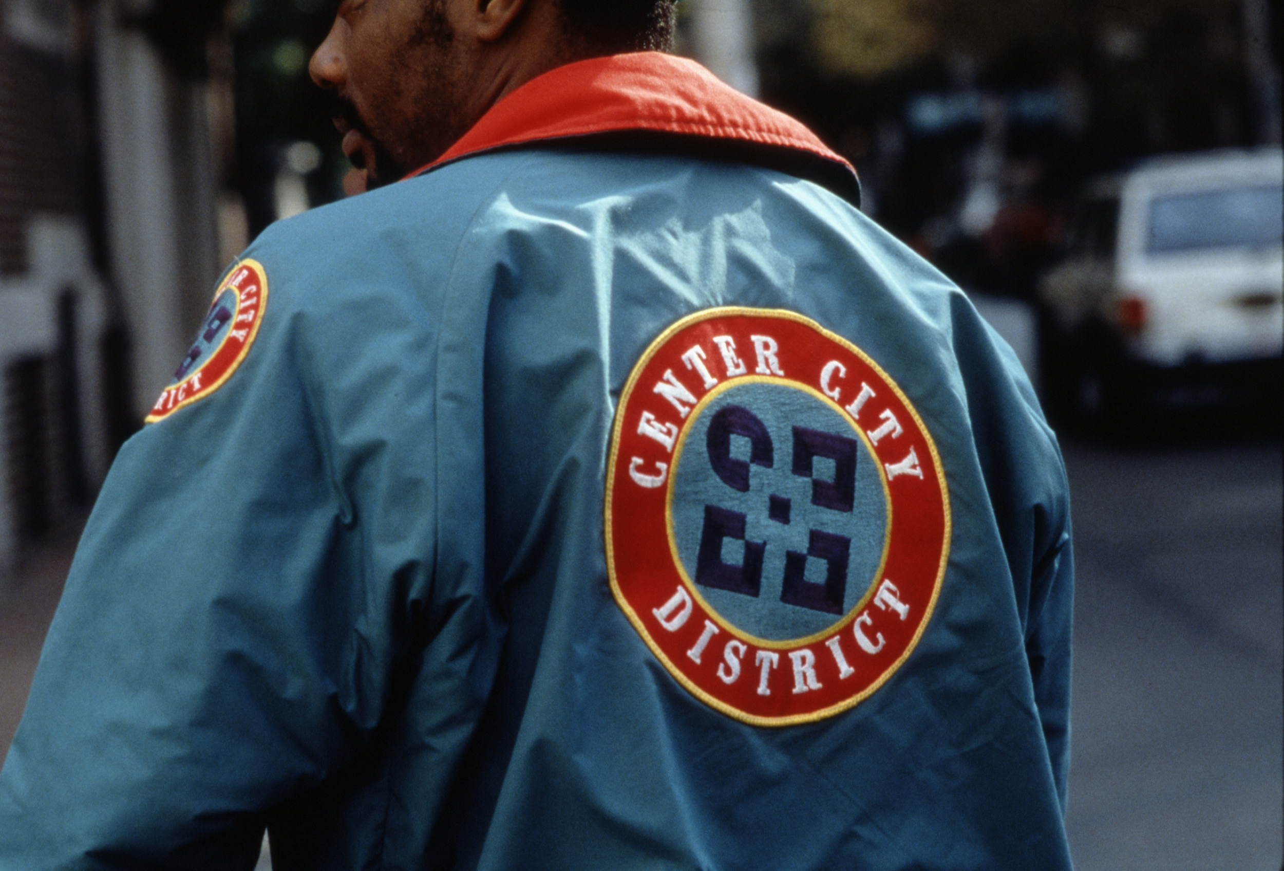 Center City District's logotype applied to jacket