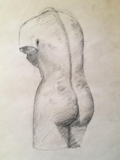 Woman's torso sculpture