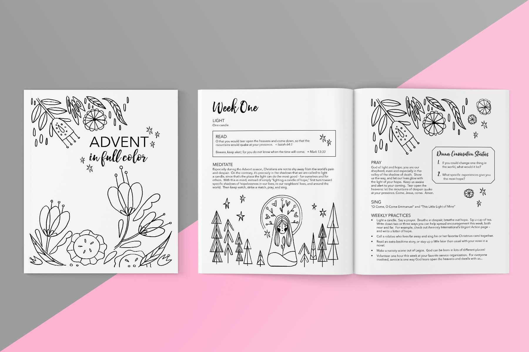 Advent in Full Color: Devotional Coloring Book