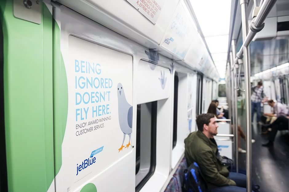 Air on the Side of Humanity / Train Wrap, Spring 2014.
