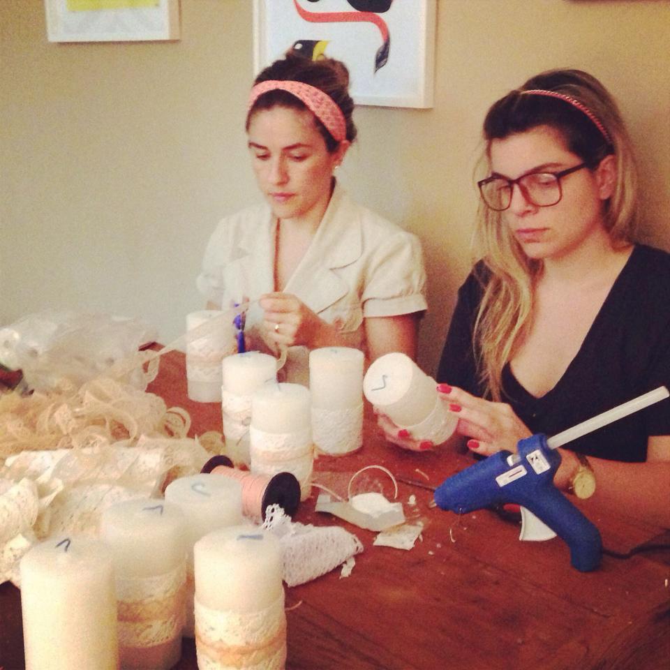 Produção de velas: Rafa e Lu (a bride maker)