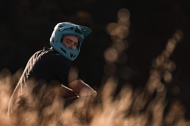 Professional helmet model. • • • • #bluesteel #california #sunset #summer #mountainbiking #goldenhour #vsco