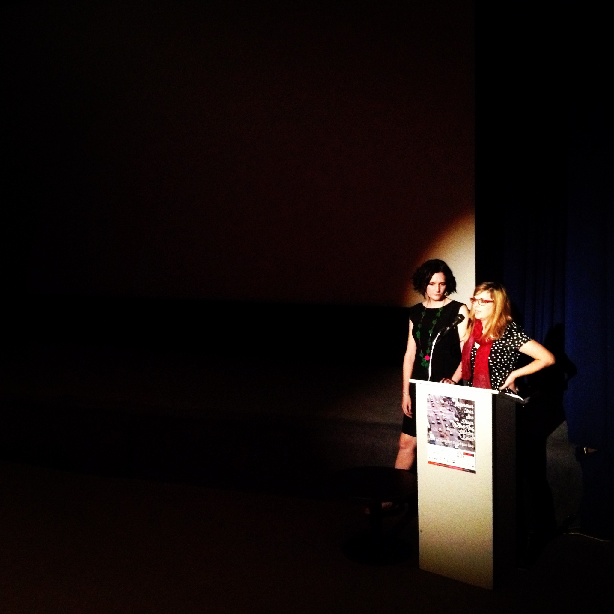 Speaking about Stingray Sisters at AIDC DocWeek's closing night