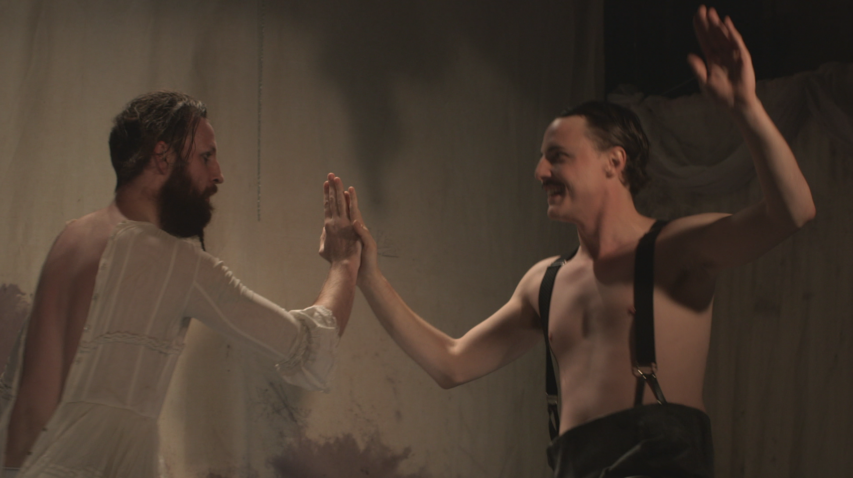 Tobias Manderson-Galvin and Sam Young in  Thank You, Thank You Love