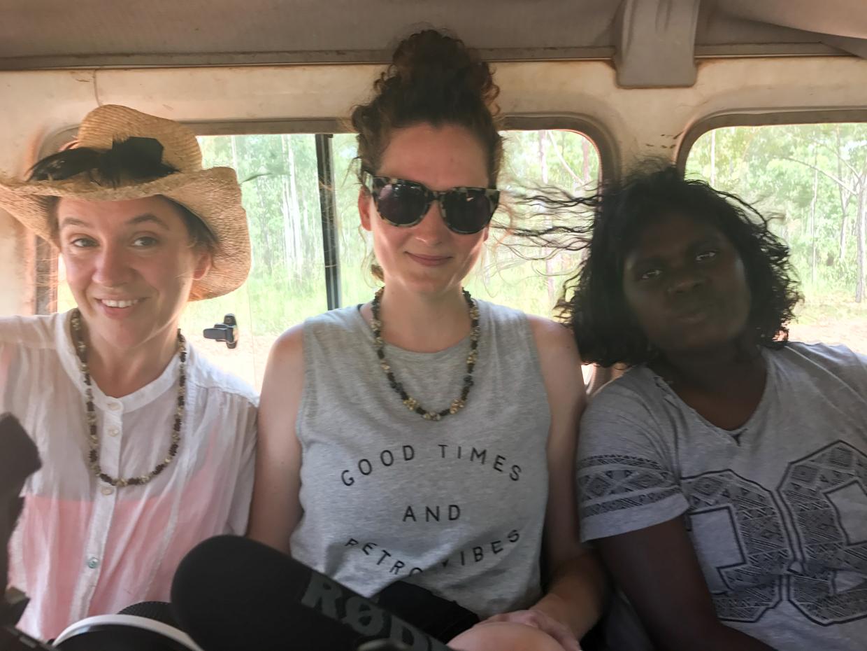 Sky, Bridget O'Shea and cast member Caitlin