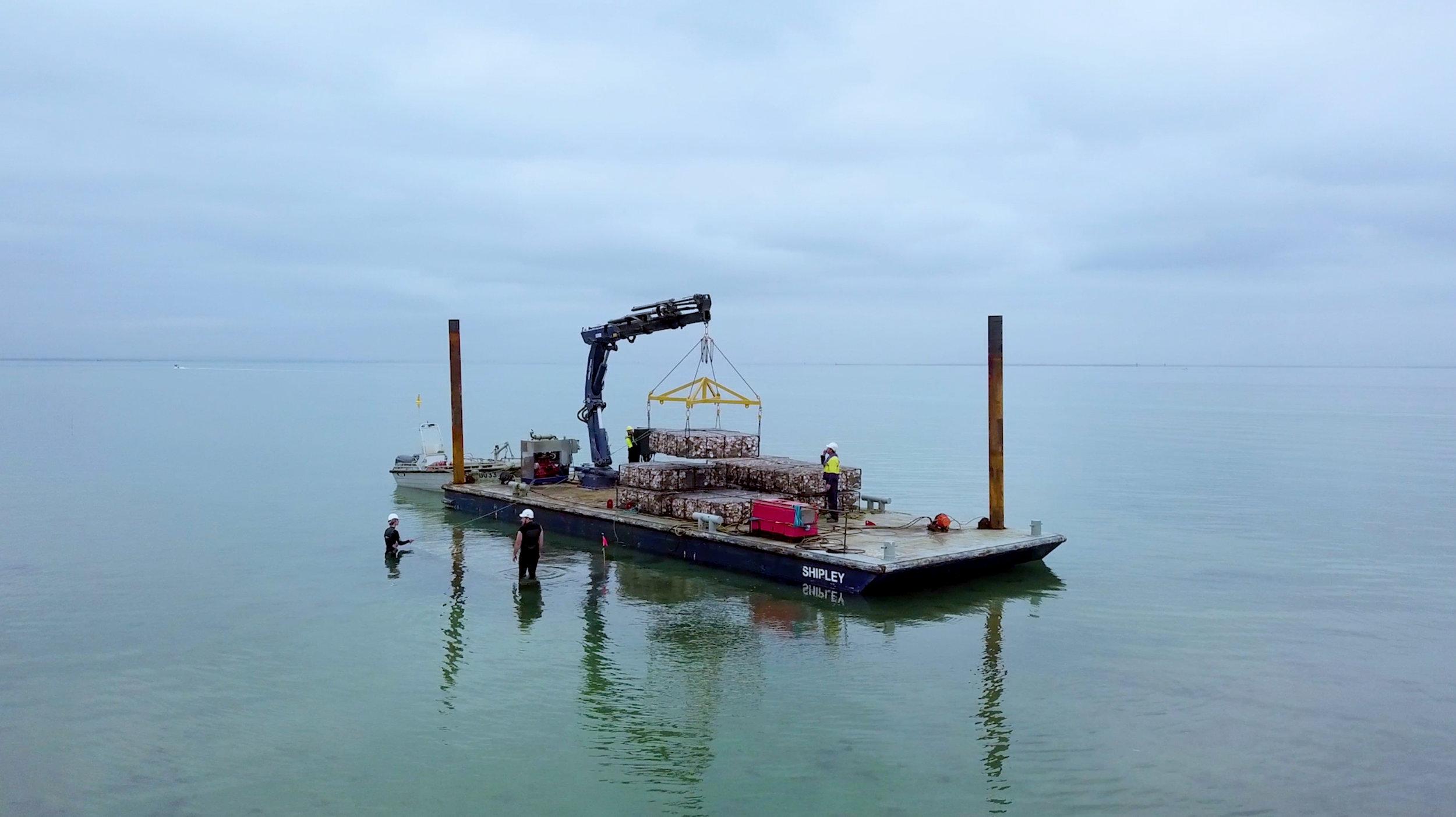 Reef installation off the coast of Portarlington, Victoria