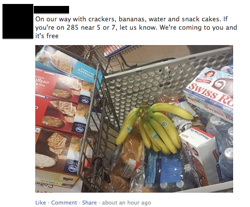 One of many similar posts on the SnowedOutAtlanta Facebook group
