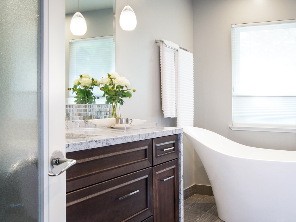 Spa inspired bathroom renovation - Reno, Nevada - Kovac Design