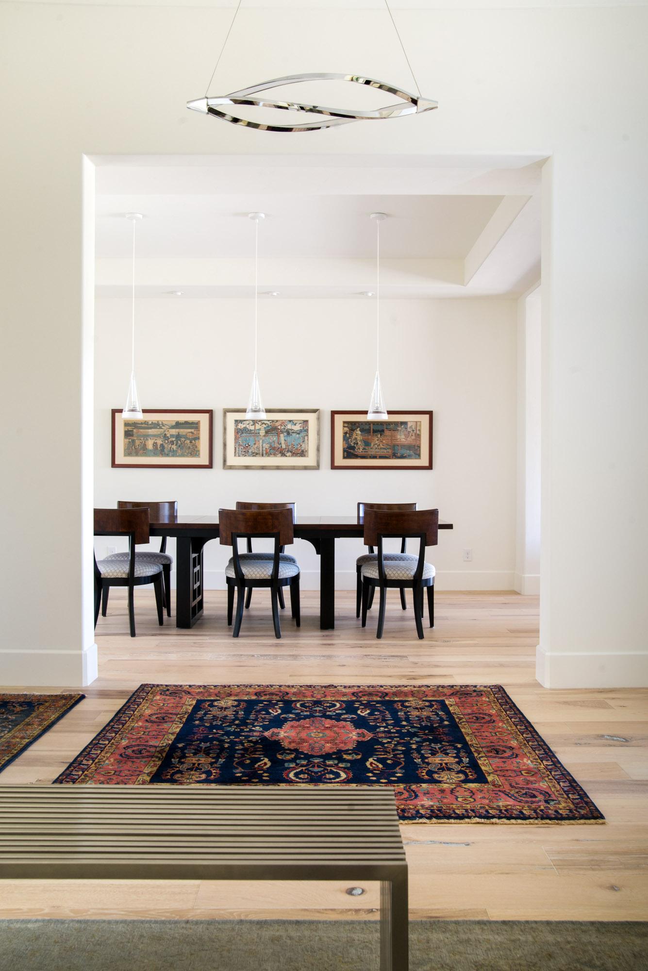 Mount Rose Estates dining room and entry design - Reno, Nevada - Kovac Design