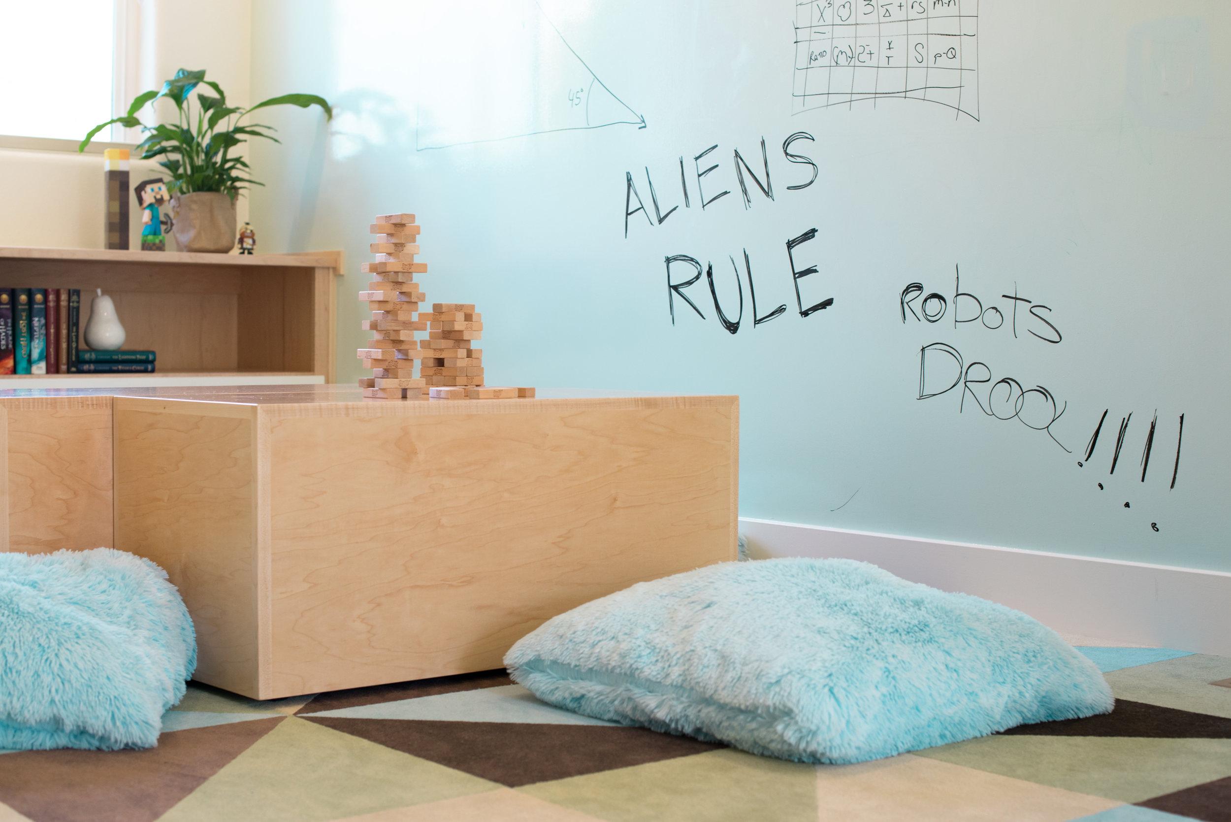 Playroom and bonus room renovation and interior design - Reno, Nevada - Kovac Design
