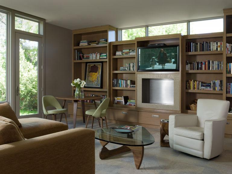 Contemporary mid century modern living room renovation - Reno, Nevada - Kovac Design