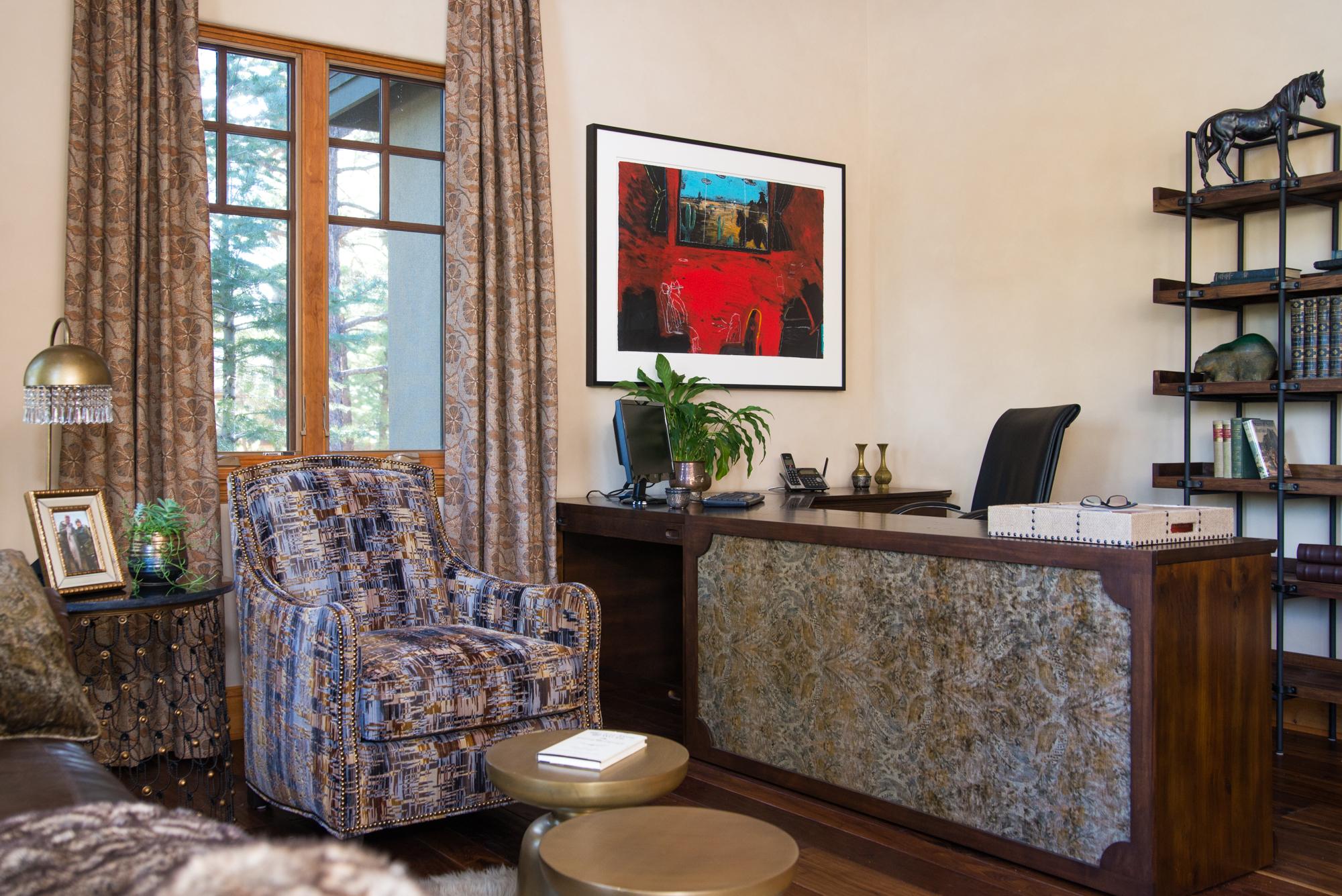 Montreux den fabric selections and interior design - Reno, Nevada - Kovac Design