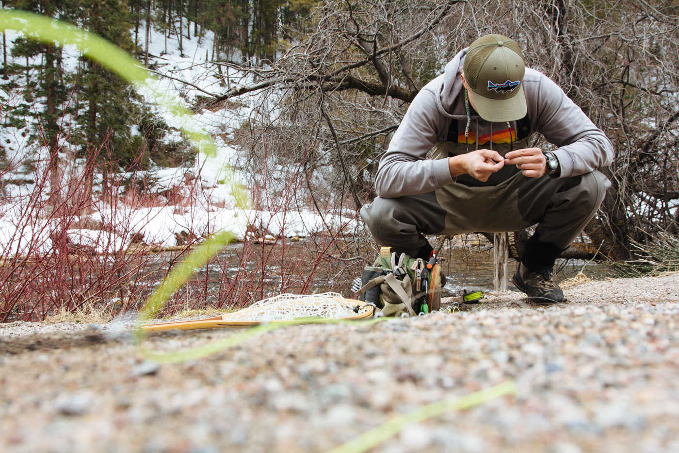 Rigging up...everyones' favorite part of fishing