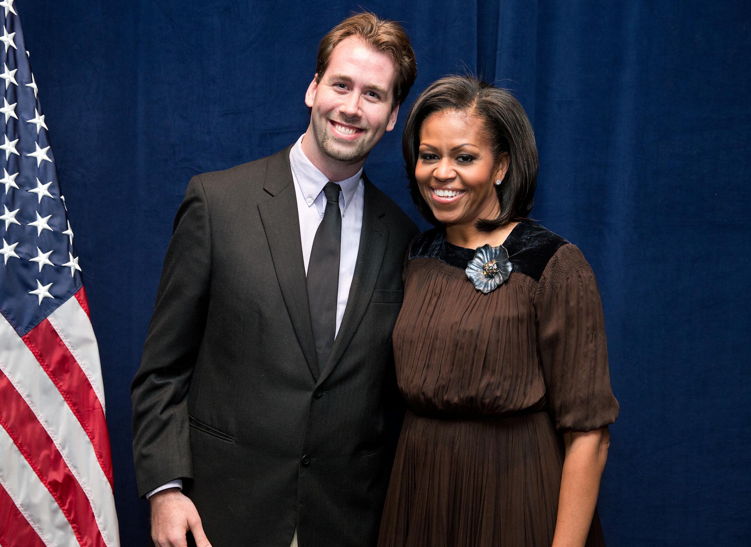 Jesse McQuarters and Michelle Obama