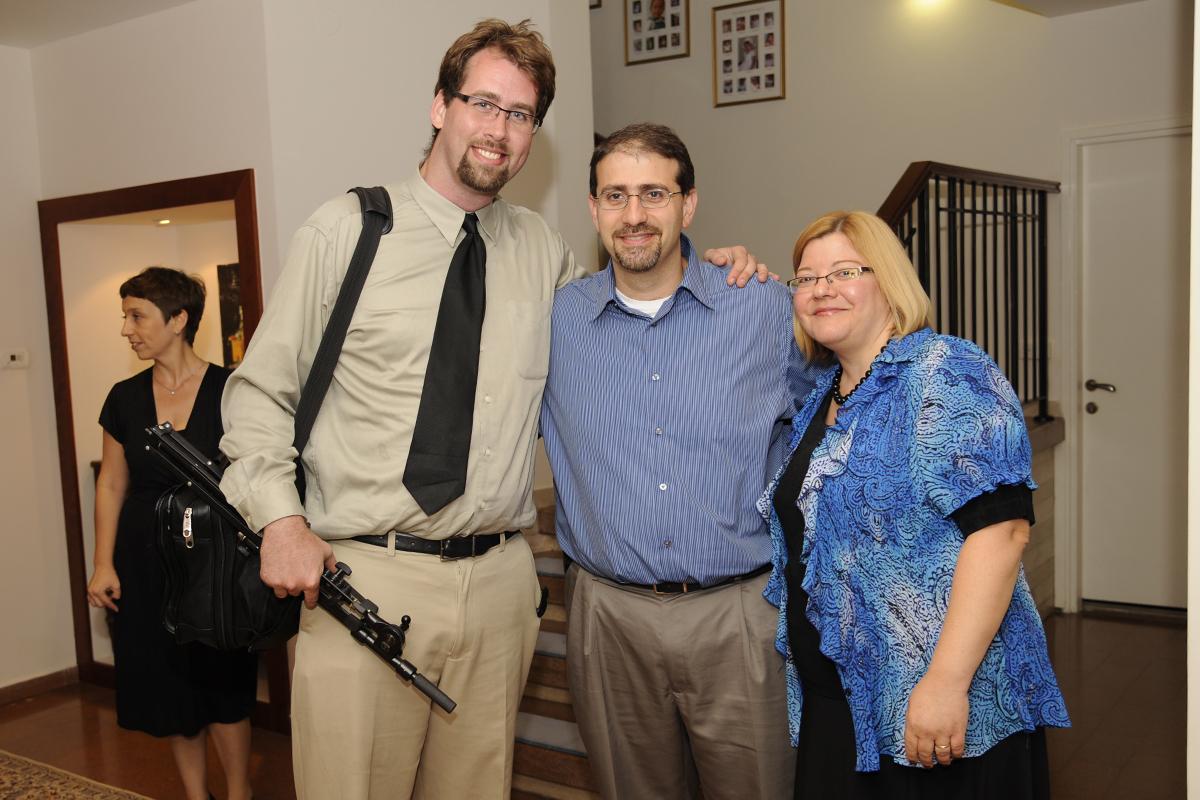 Jesse McQuarters with US Ambassador to Israel Daniel Shapiro (Tel Aviv, Israel)