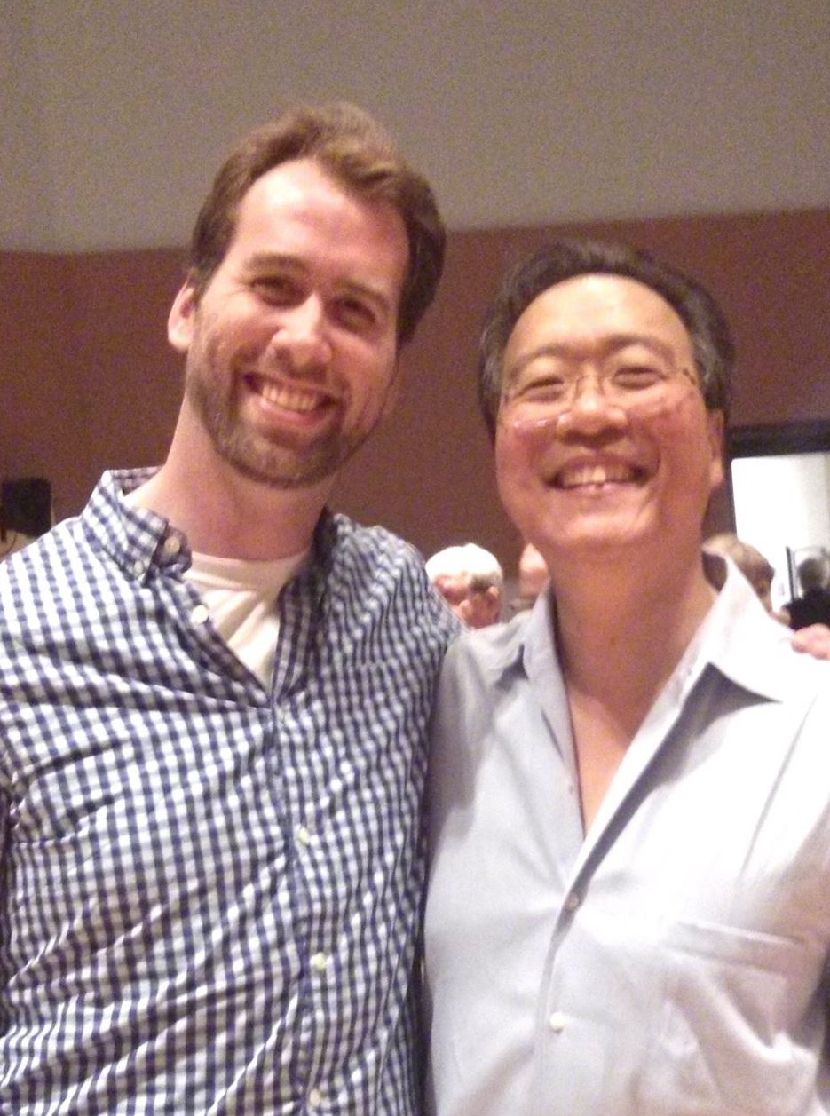Jesse McQuarters and cellist Yo-Yo Ma.
