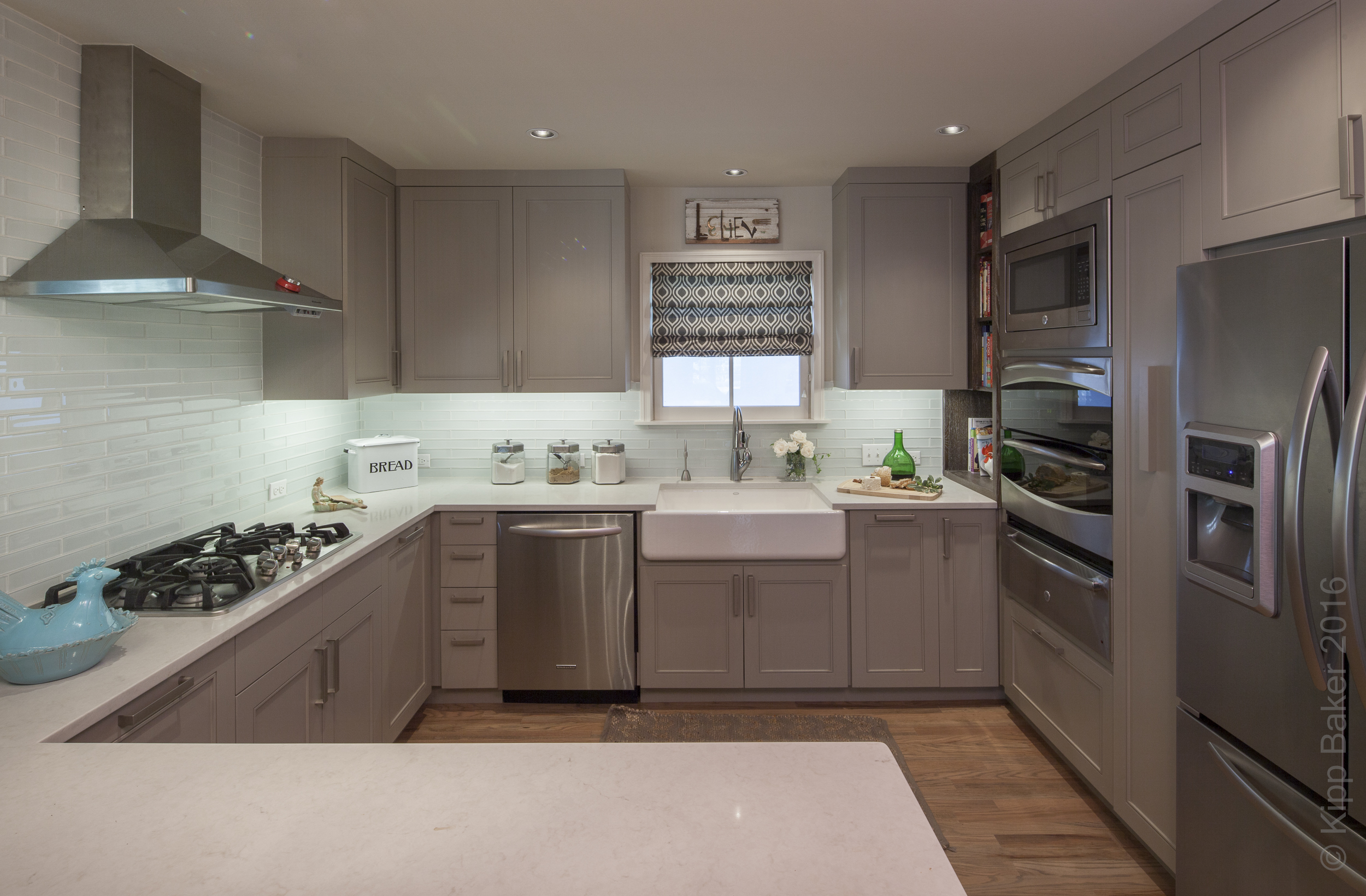 Residential kitchen. Millwork and cabinetry by  Reznikoff Custom Furniture