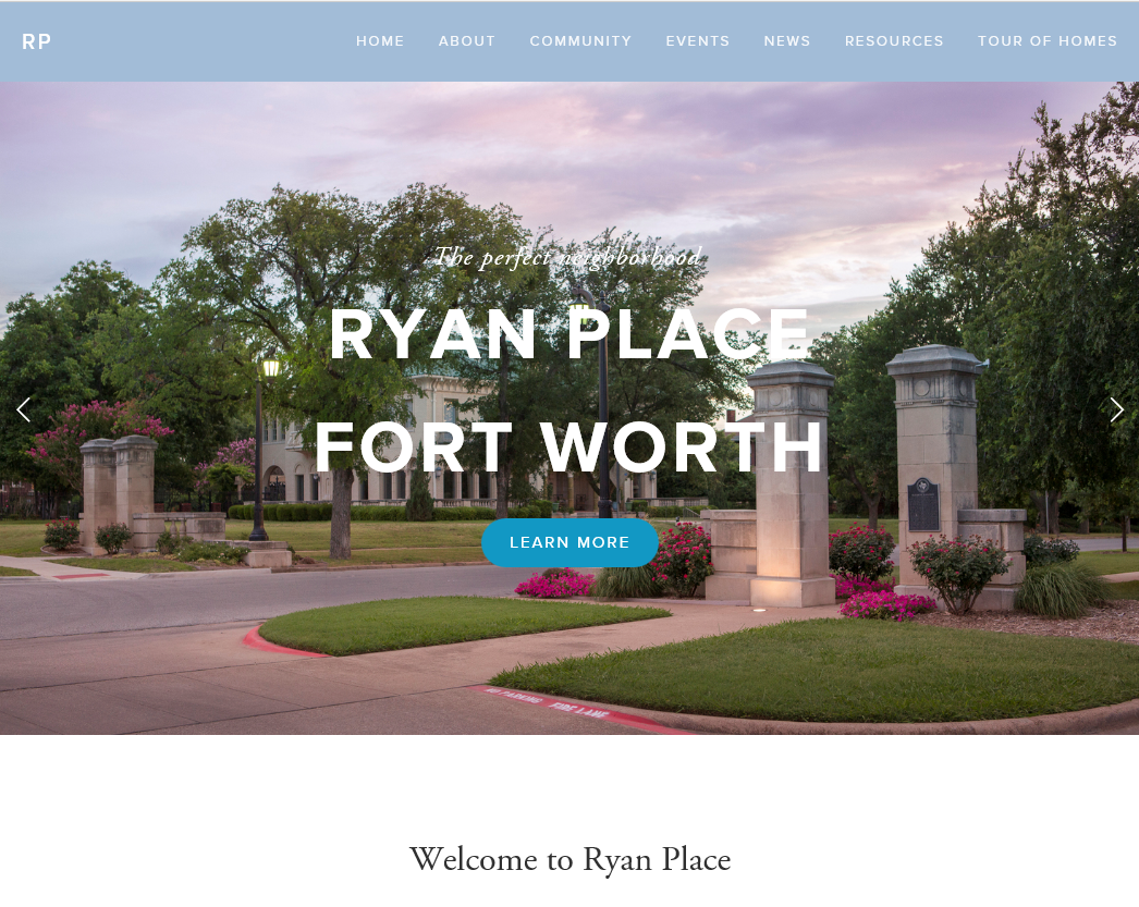 Ryan Place Fort Worth home page