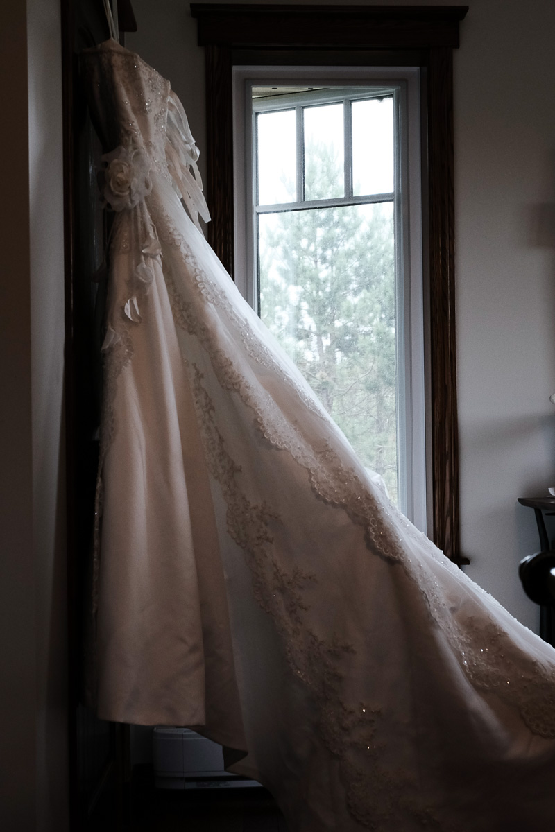 """""""The Wedding Dress"""" Irma's Bridal Thunder Bay, Ontario    This was the second last dress she tried on and it literally jumped off the rack saying """"pick me, pick me!"""" We had some much needed sister time and had such a fun day picking out flowers and decorations."""