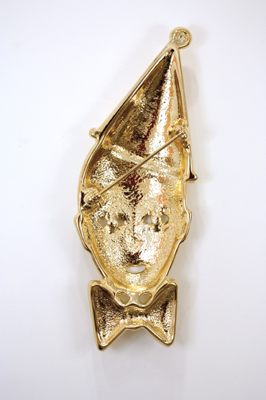 Amanda Ross-Ho  Double Feature #2  2010 High density foam, fiberglass resin, urethane primer, vacuum metallized in gold 43h x 17w x 8d in