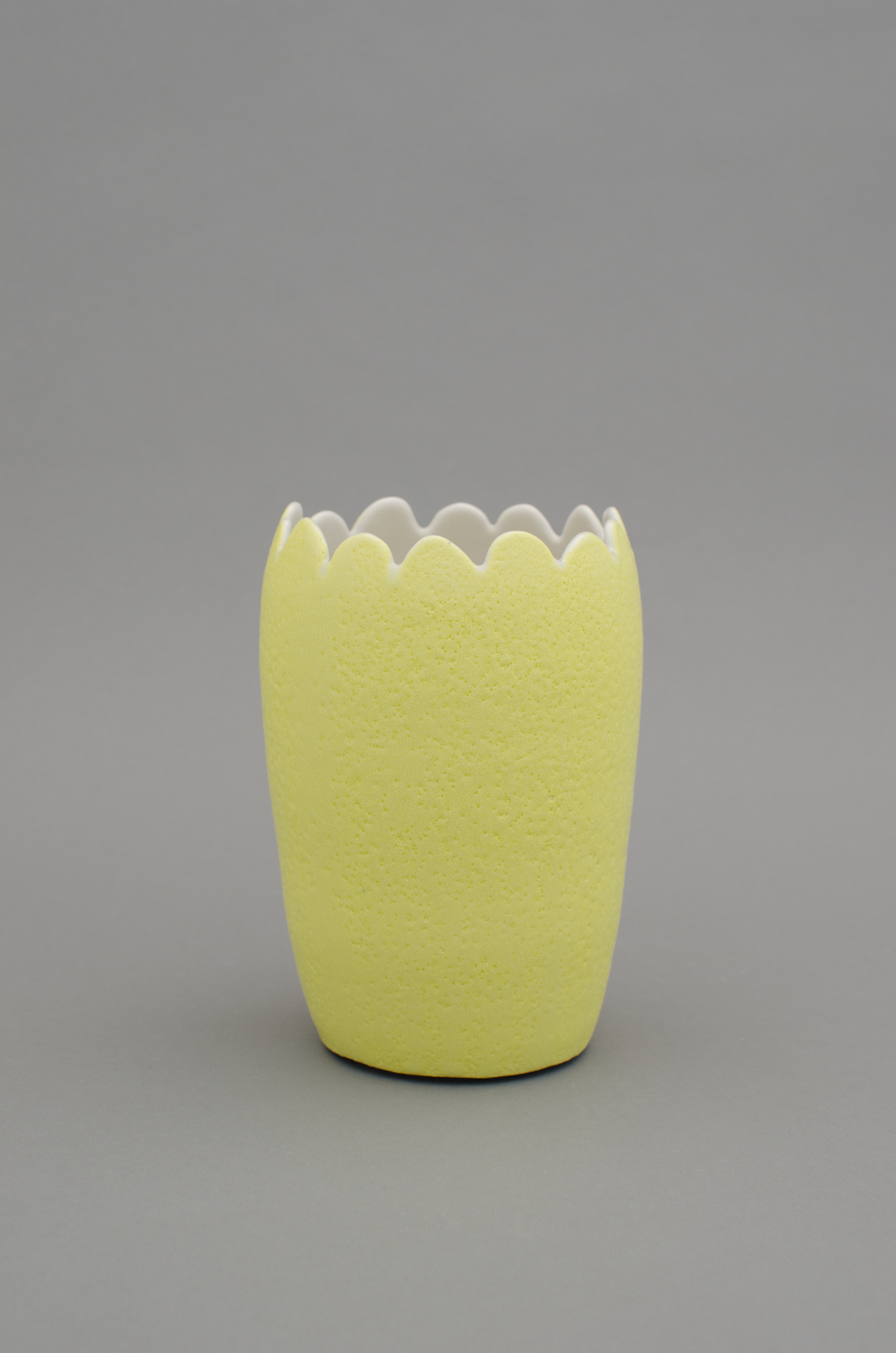 Shio Kusaka  Untitled (yellow 1)  2012 Porcelain 7 ¼h x 5w x 5d in SK377