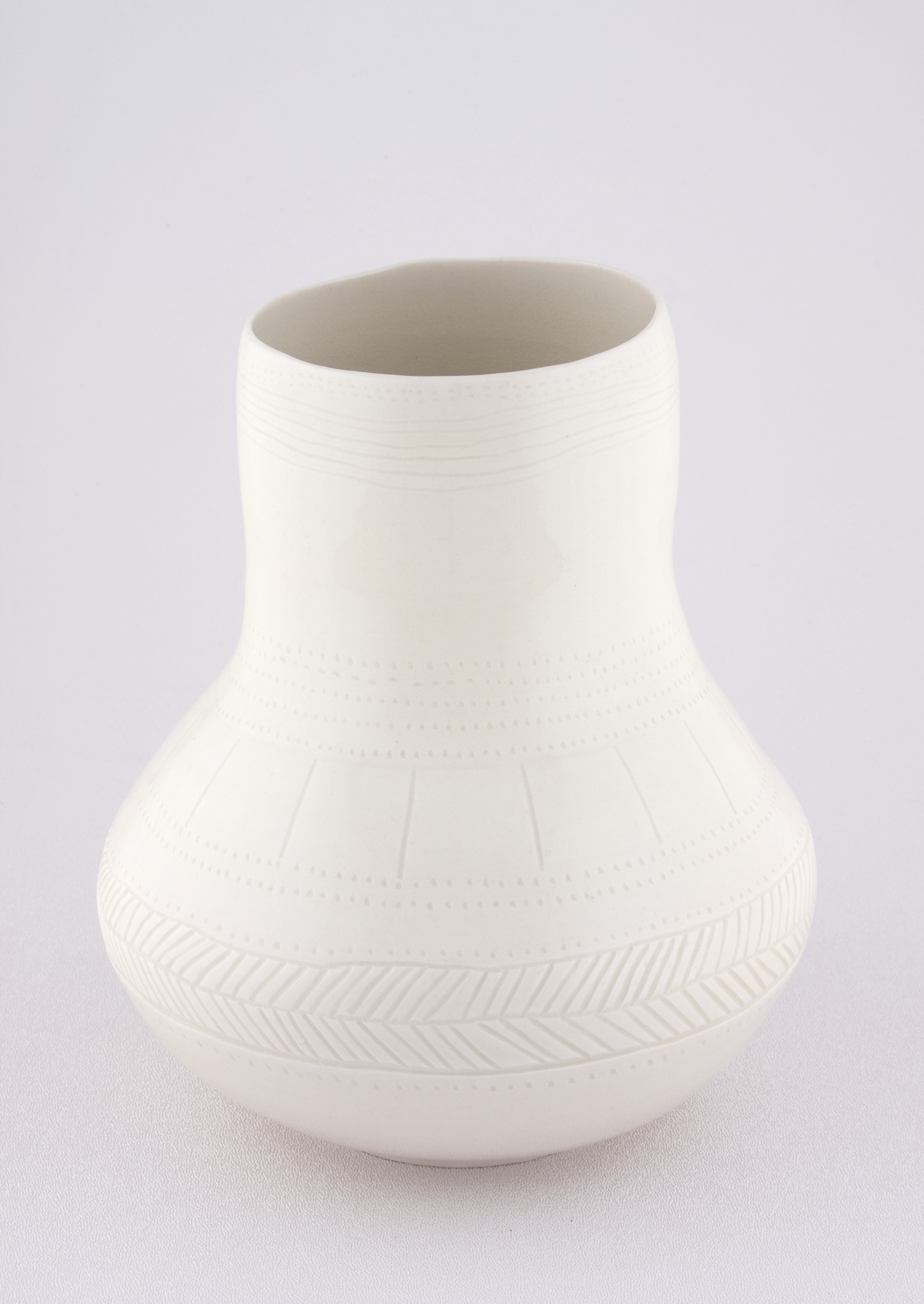 Shio Kusaka  Untitled (  yayoi   carving 2)  2009 Porcelain 8h x 6 ¾w x 6 ¾d in SK027
